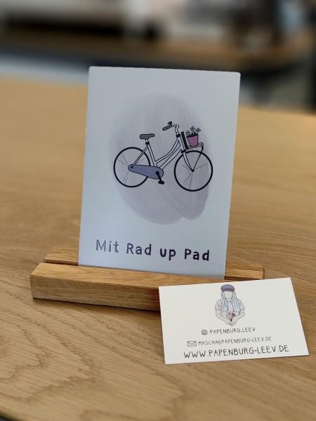 Postkarten Mit Rad up Pad