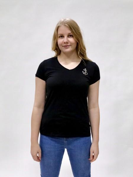 T-Shirt Damen mit V-Hals