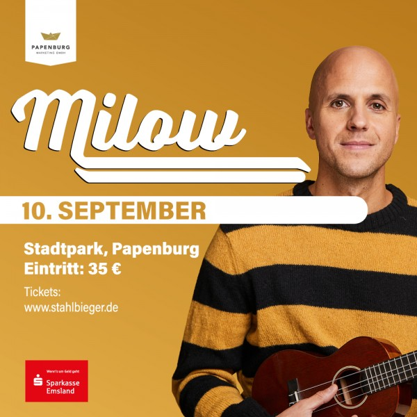 Milow 10.09.21 Stadtpark Papenburg