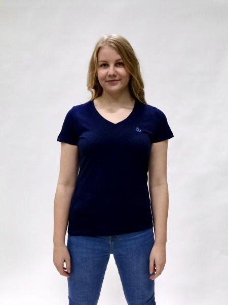 Premium T-Shirt Damen mit V-Hals